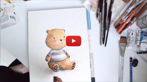 Watercolor-Teddy-Bear