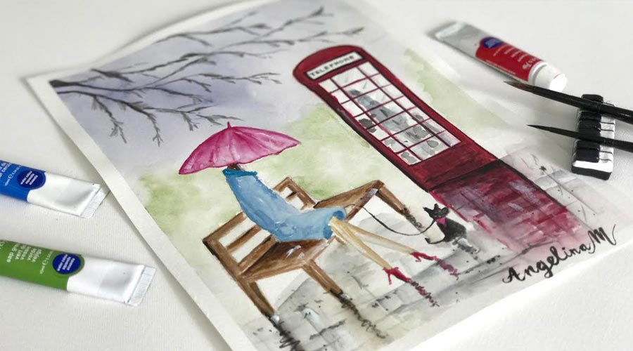 watercolor-painting-lady-in-the-waiting