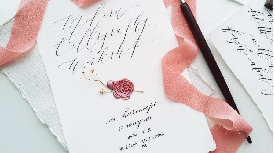 Belajar Modern Calligraphy Kuromopi Mei